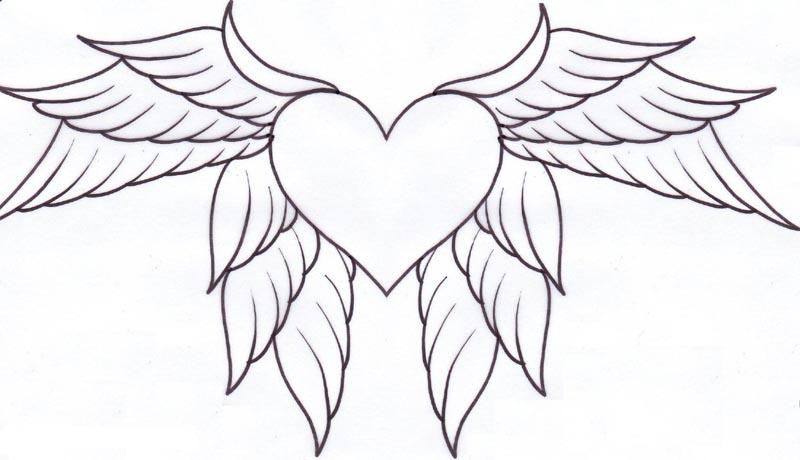 лёгкий рисунок сердце