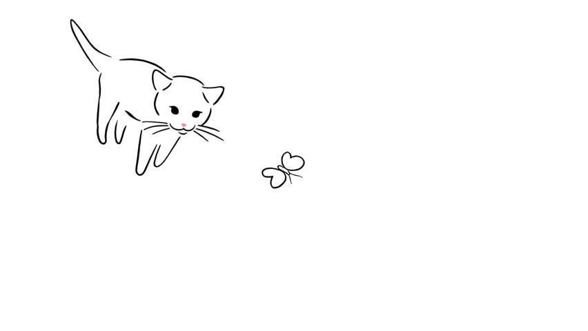 Лёгкий рисунок кошки