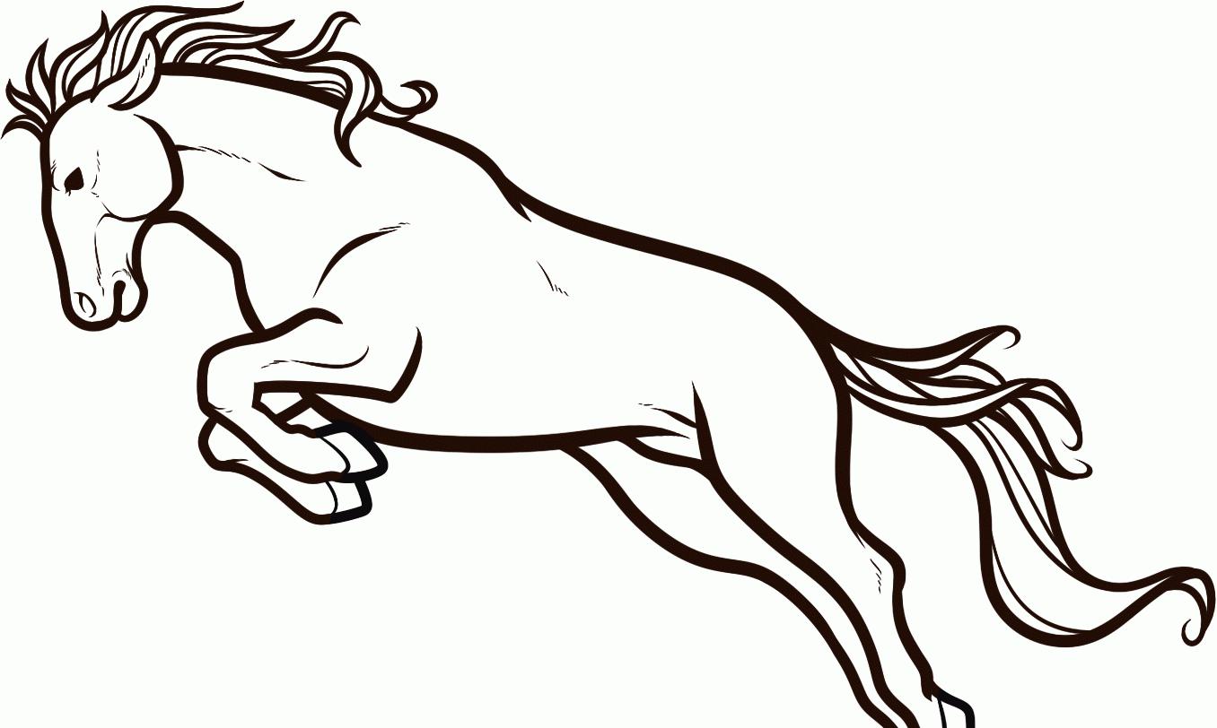 лёгкий рисунок лошади 2