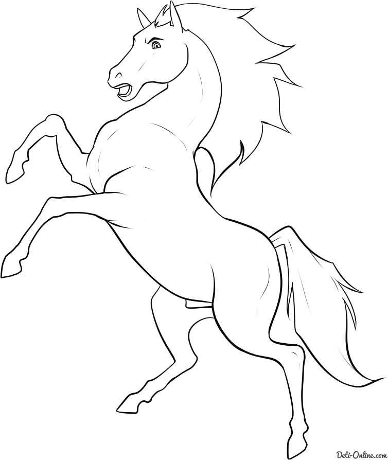 лёгкий рисунок коня
