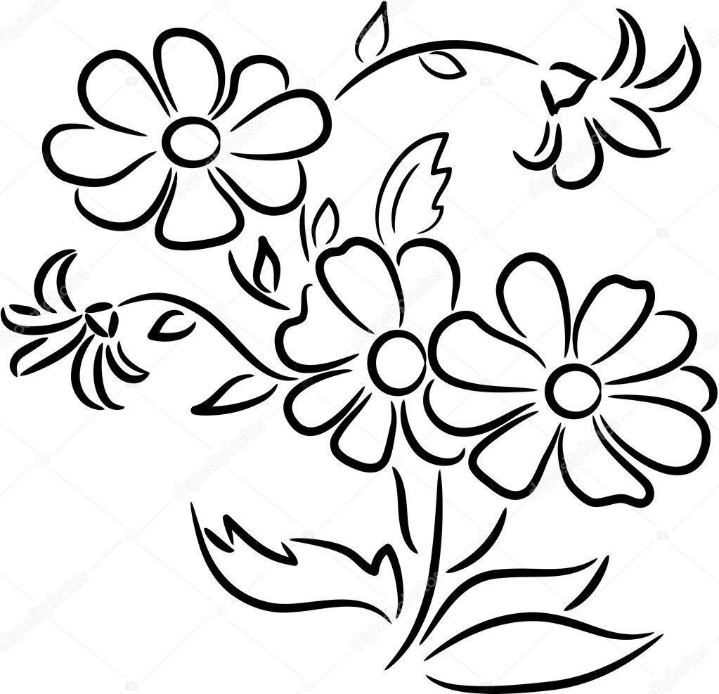 рисунок ромашка
