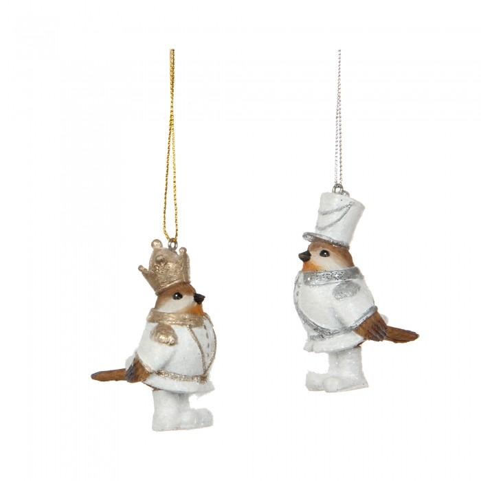 ёлочные игрушки птички