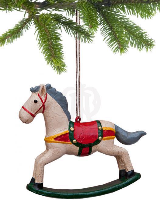ёлочная игрушка лошадка