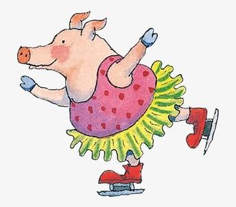 Свинья на коньках