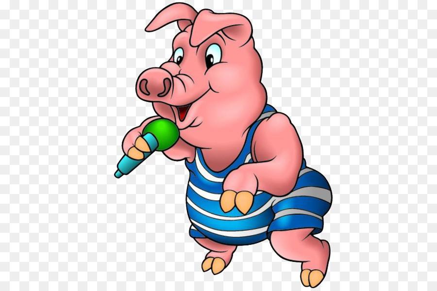 свинья с микрофоном