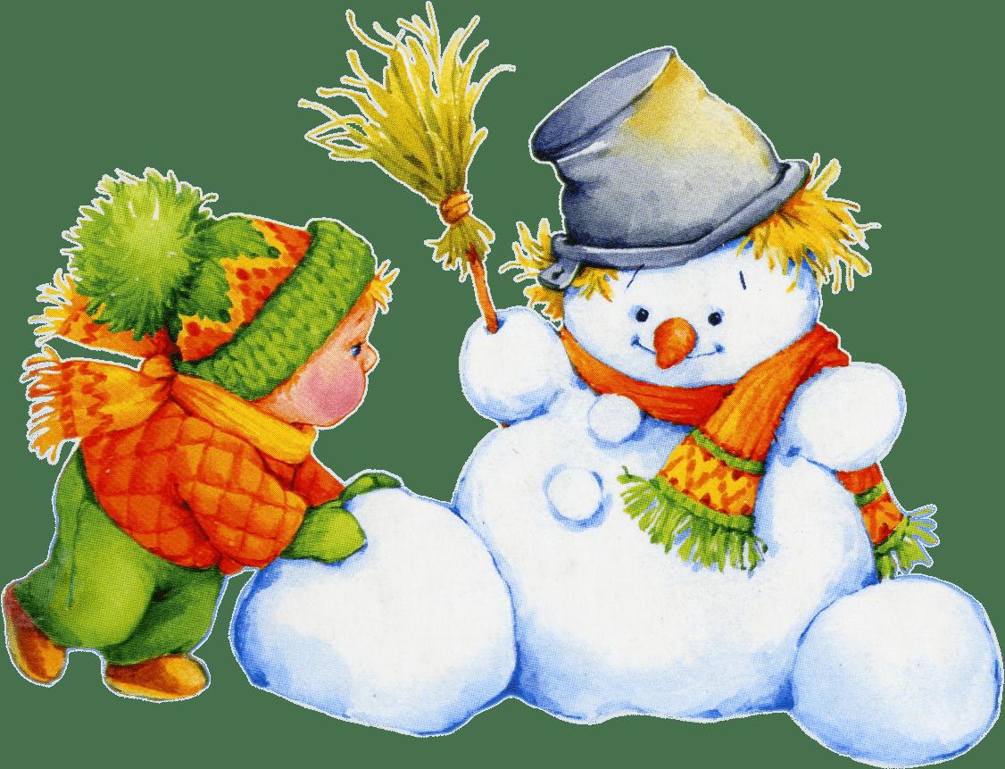 ребёнок и снеговик