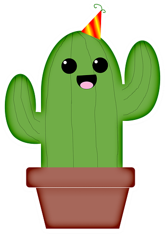 кавайный кактус