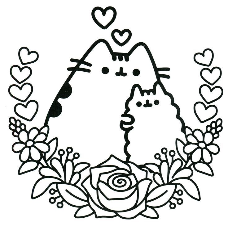 раскраска кот Пушин антистресс