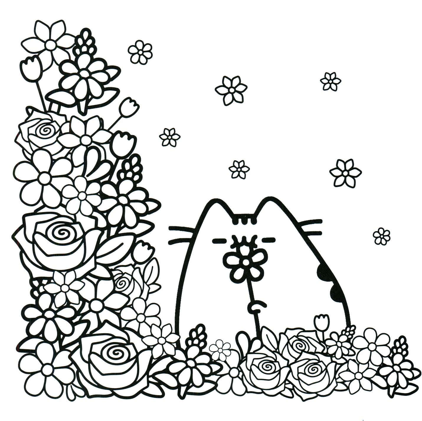 Раскраска кот Пушин 32