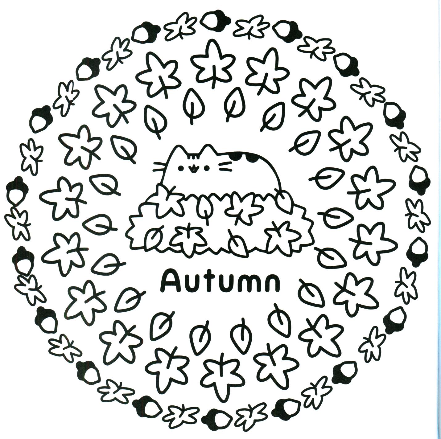 Раскраска кот Пушин 12