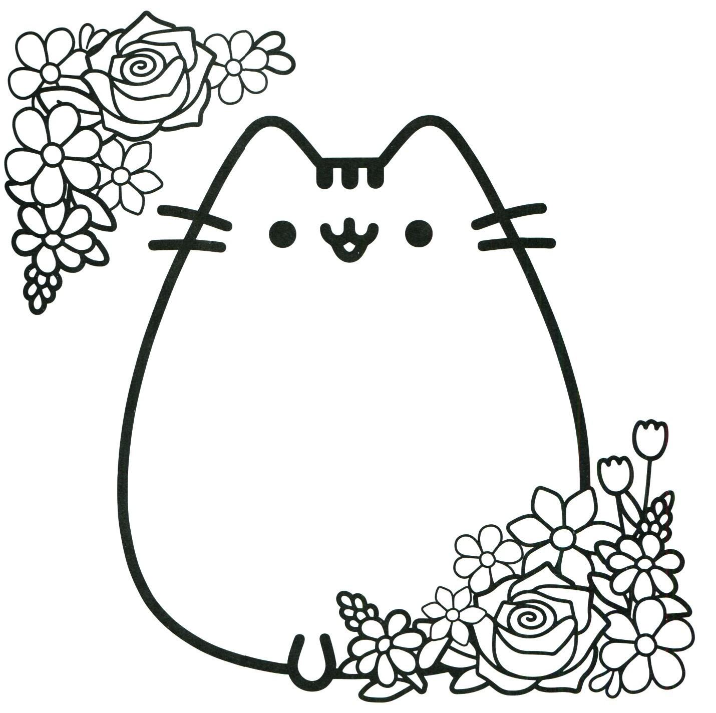 раскраска кот Пушин 34