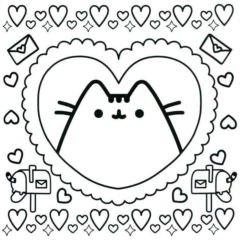 раскраска кот Пушин 38