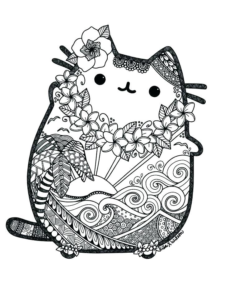 Раскраска кот Пушин 10