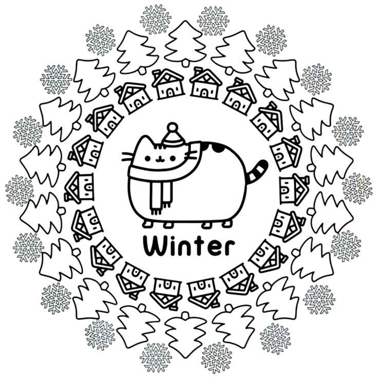 раскраска кот Пушин 20