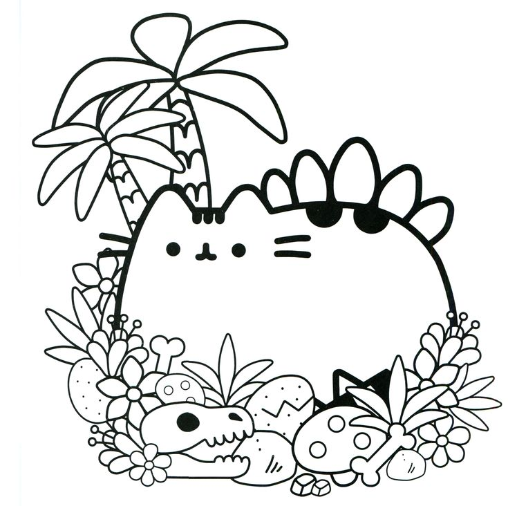 Раскраска кот Пушин 25