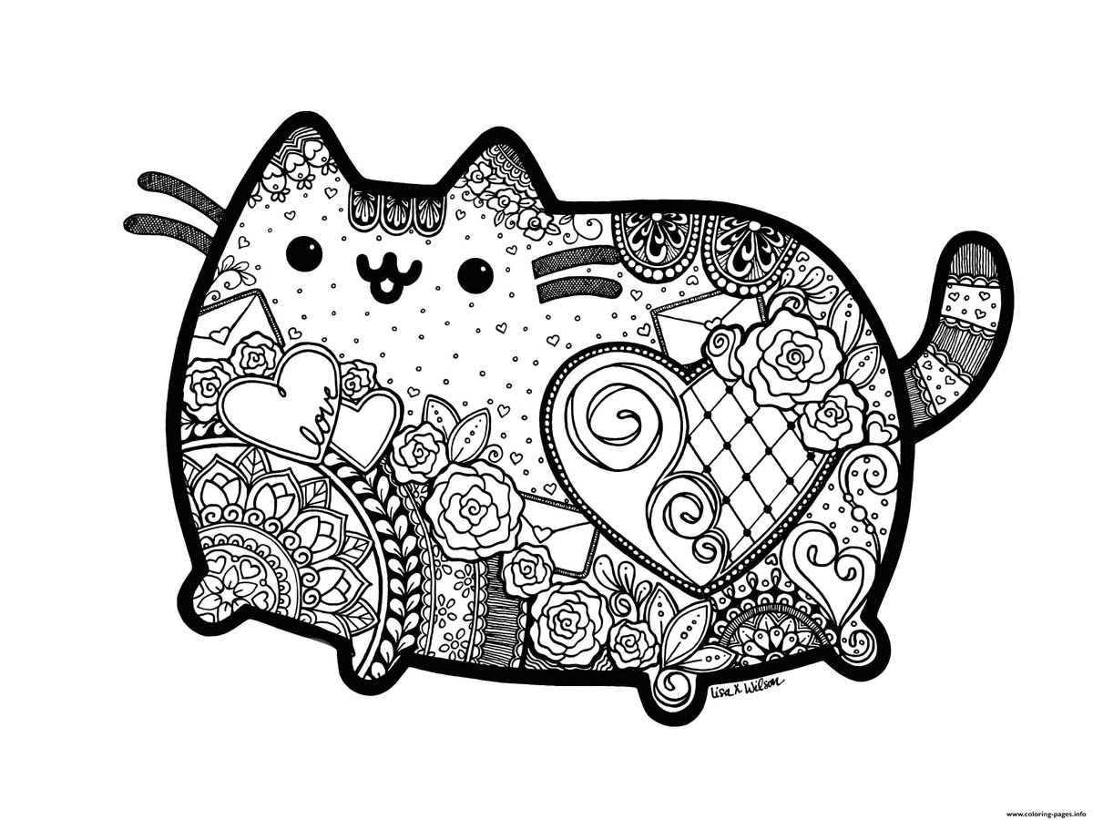 раскраска кот Пушин 30