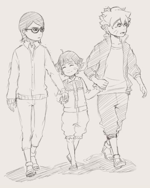 Мицуки, Боруто и Сарада