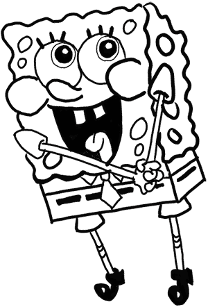 губка Боб рисунок