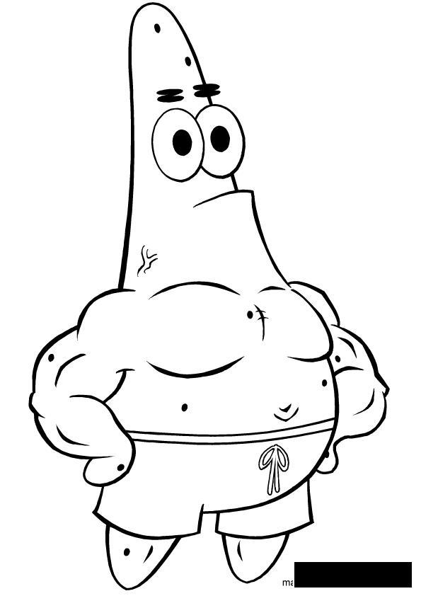 Патрик рисунок
