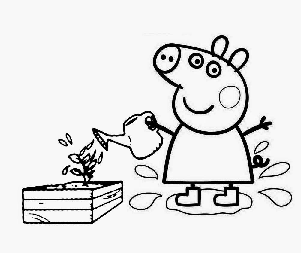 Раскраска свинка Пеппа 55