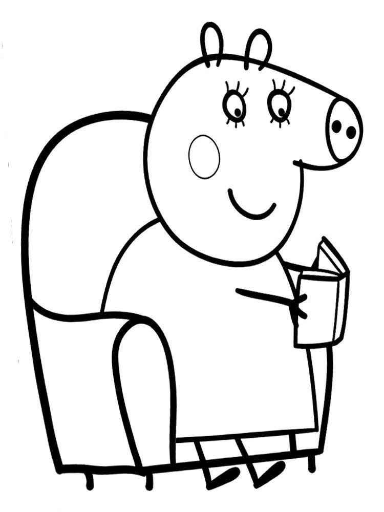 Раскраска свинка Пеппа 67