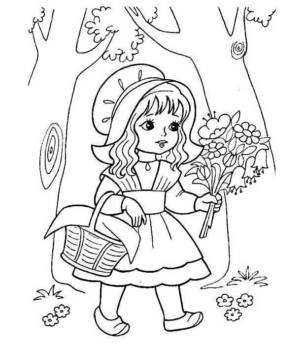 Девочка раскраска 13