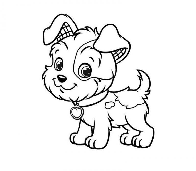 щенок раскраска 2