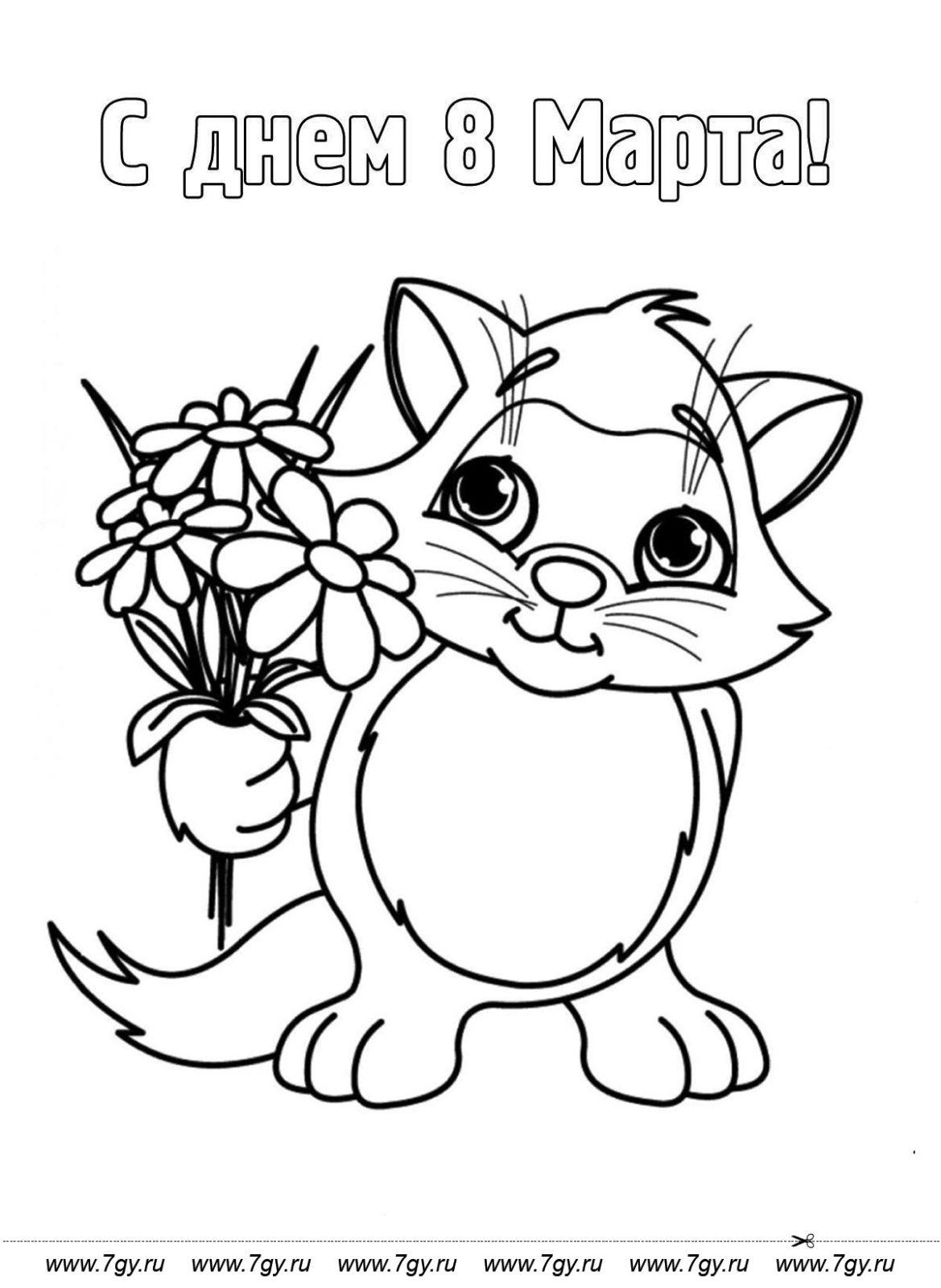 Котёнок раскраска 2