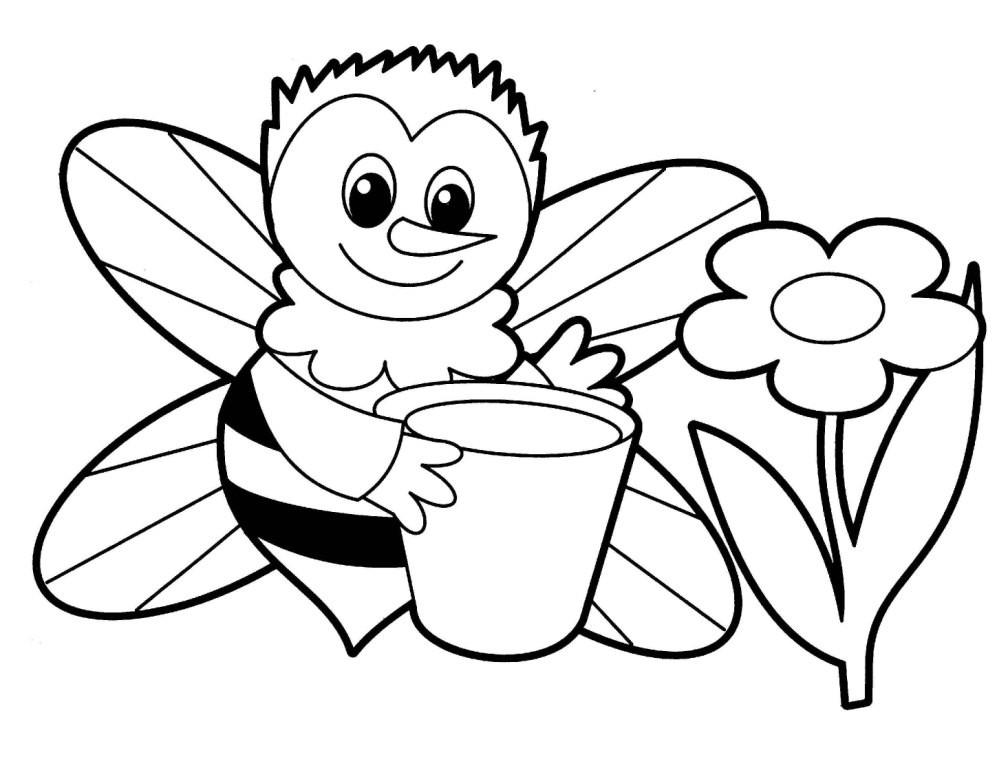 Раскраска пчёлка 3