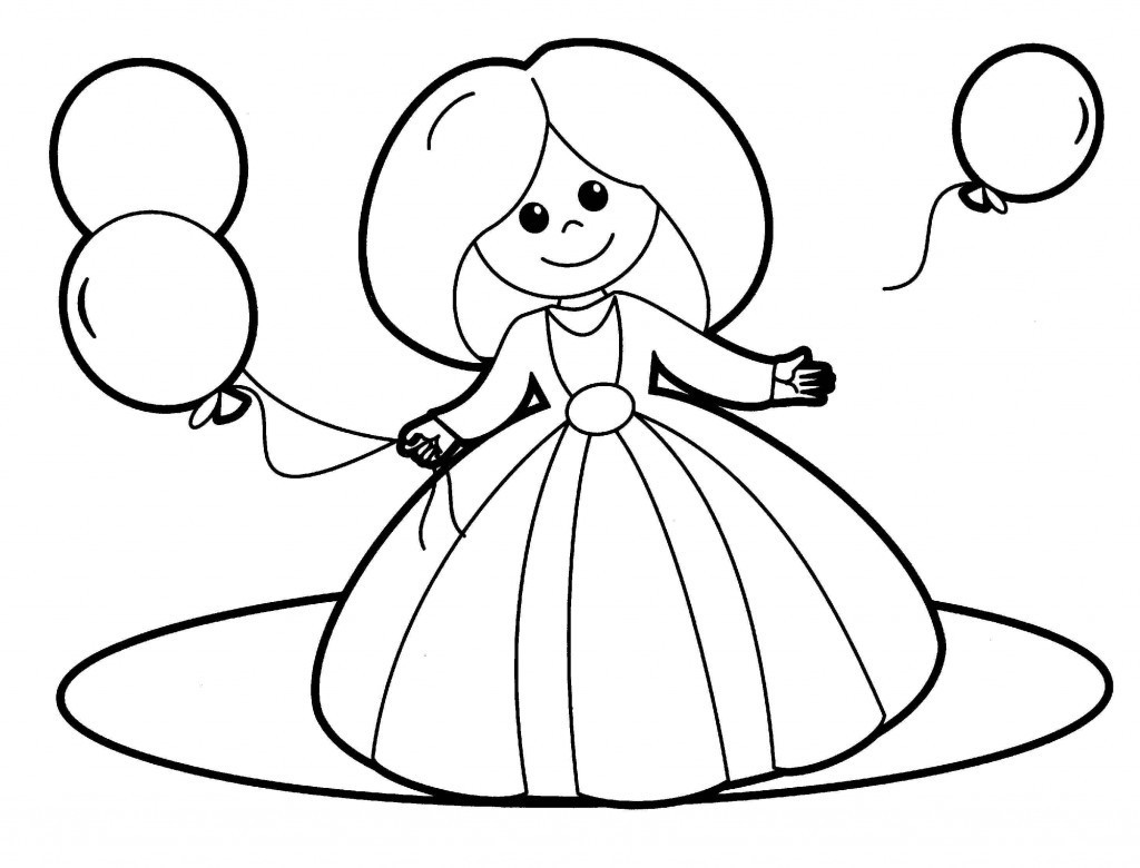 раскраска кукла 6