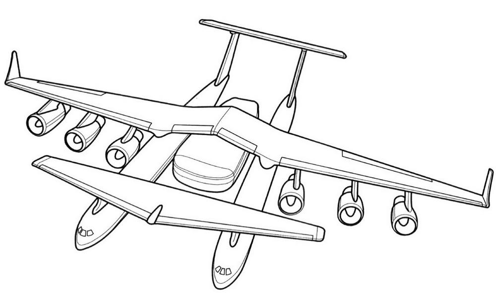 раскраска самолёт 5