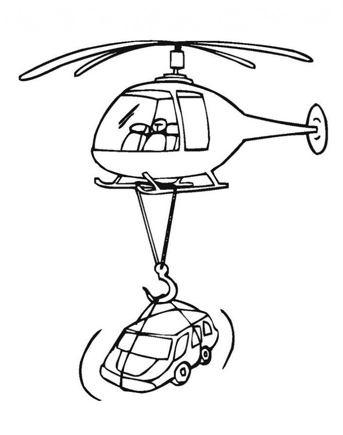 Раскраска вертолёт 4