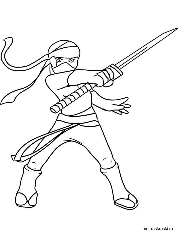 Раскраска ниндзя 16