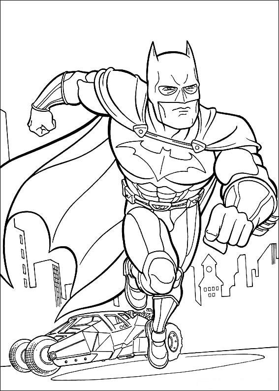 Раскраска Бэтмен 3