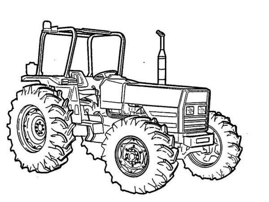 раскраска трактор 2