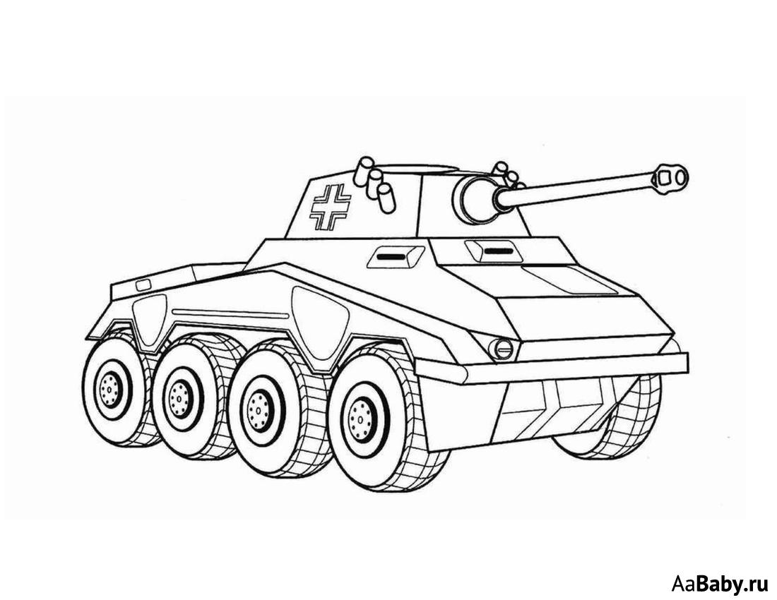 раскраска танк 6