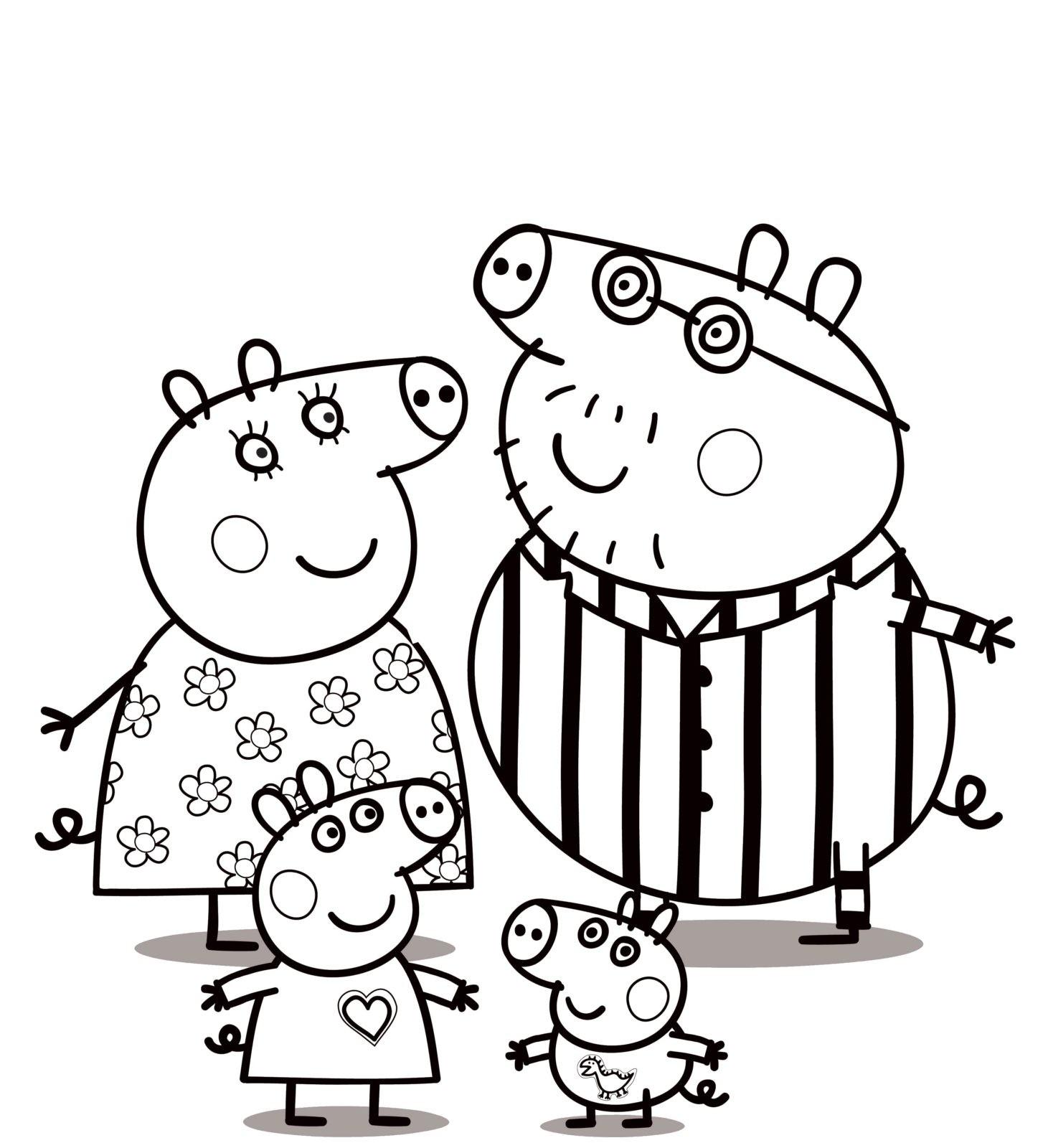 семья свинки Пеппа