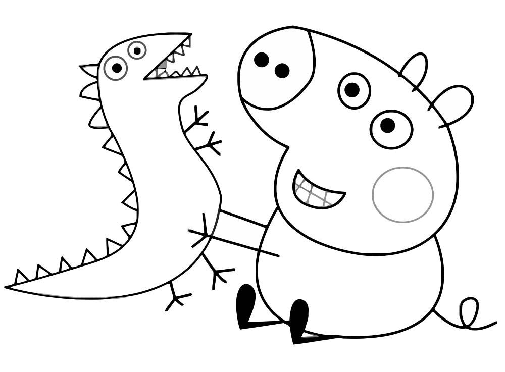Раскраска свинка Пеппа 4