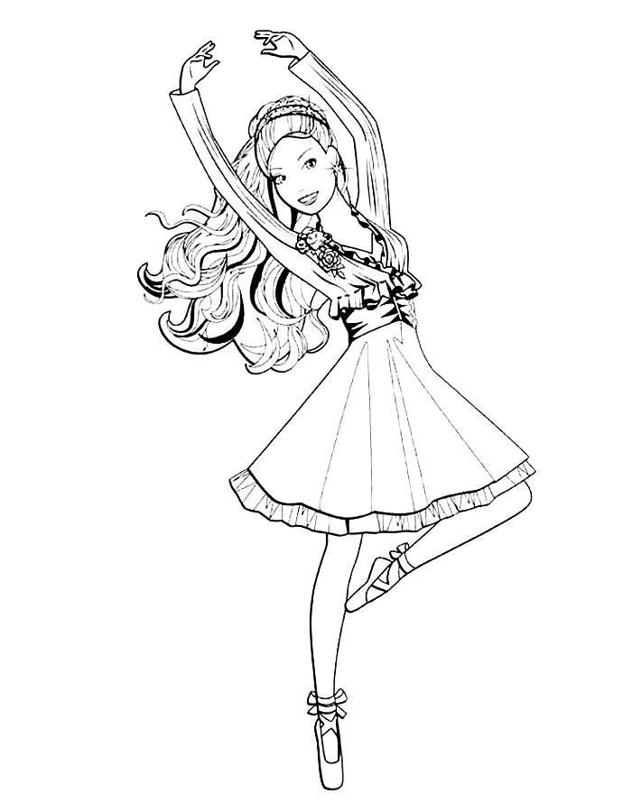 Барби балерина 4