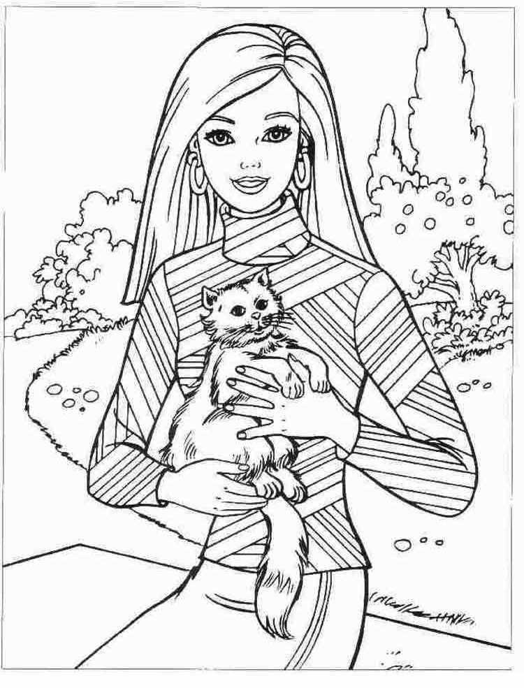 Барби с котёнком