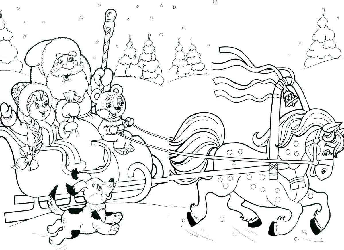 Дед Мороз на санях 4