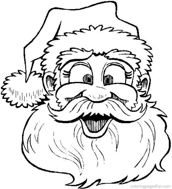 лицо Деда Мороза 2
