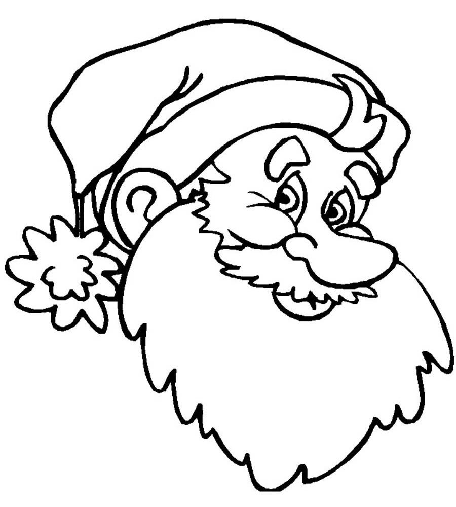 Раскраска Дед Мороз 15