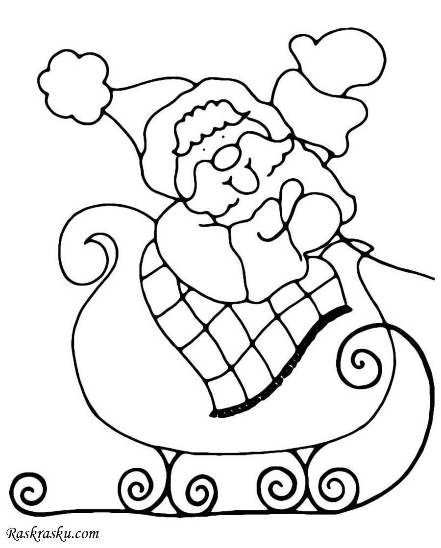 Дед Мороз на санях 2