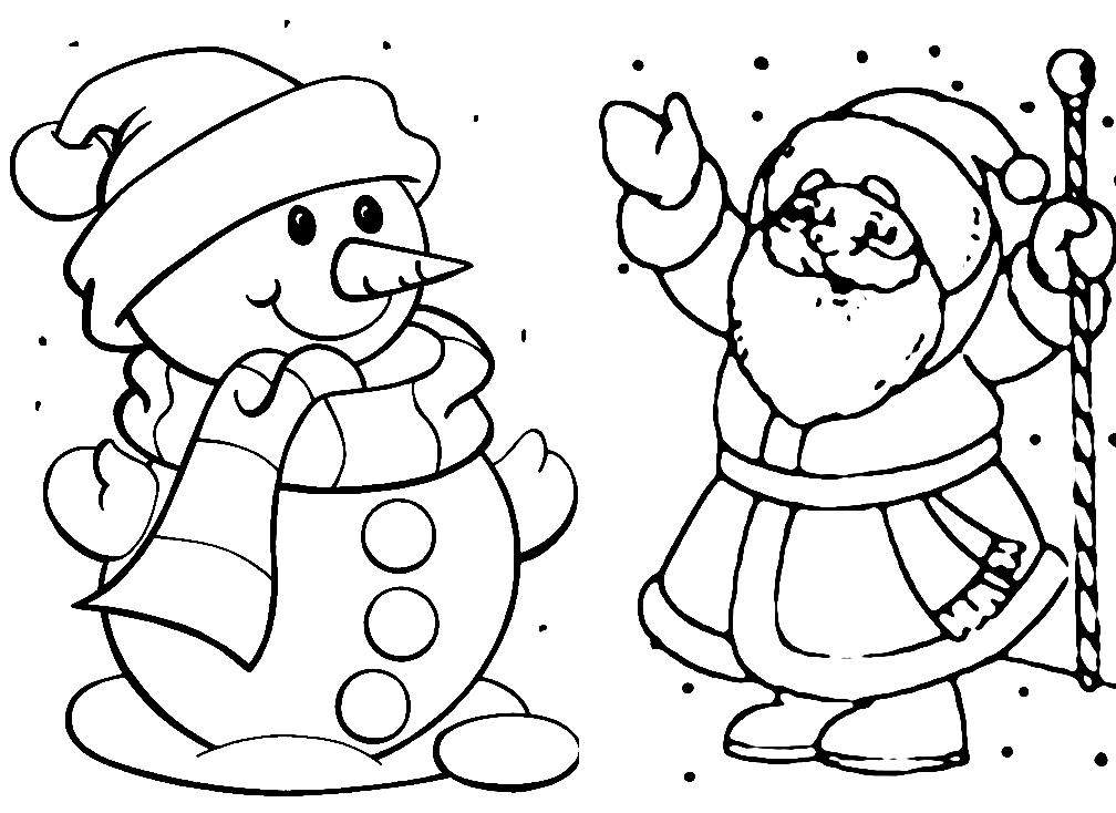 Раскраска Дед Мороз   andrey-eltsov.ru