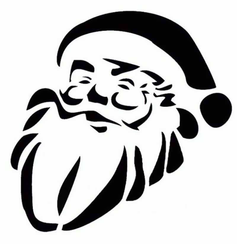 трафарет Дед Мороз 2
