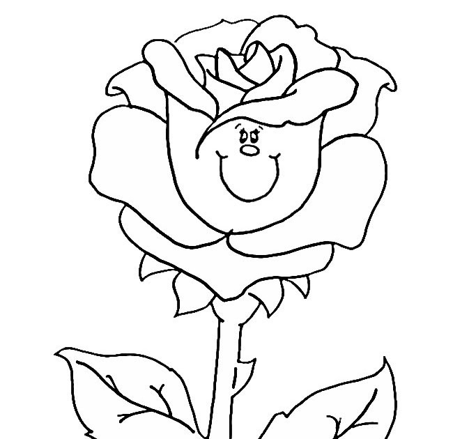 раскраска роза 2