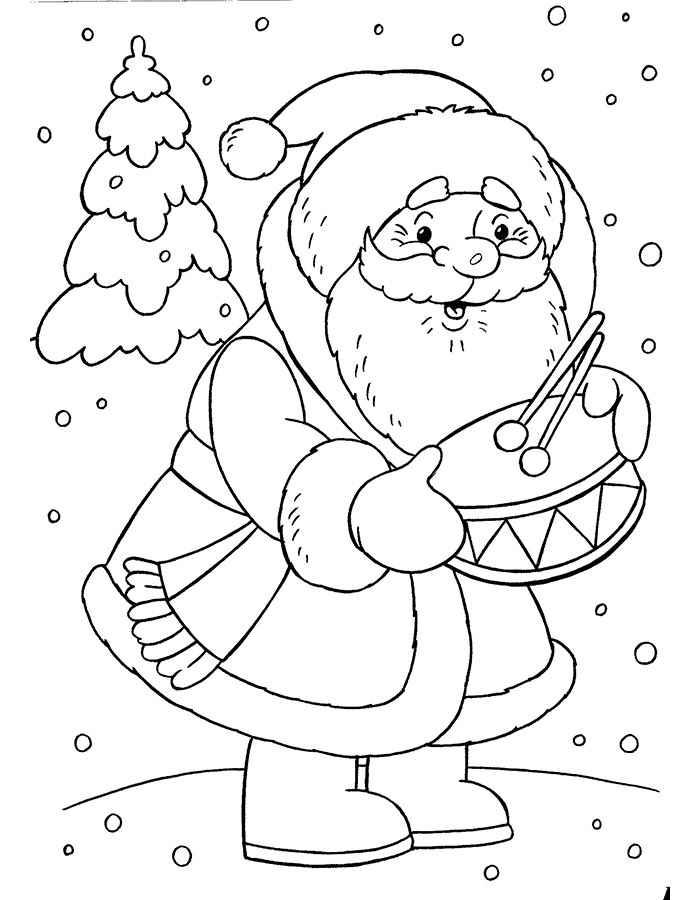 Раскраска Дед Мороз 5
