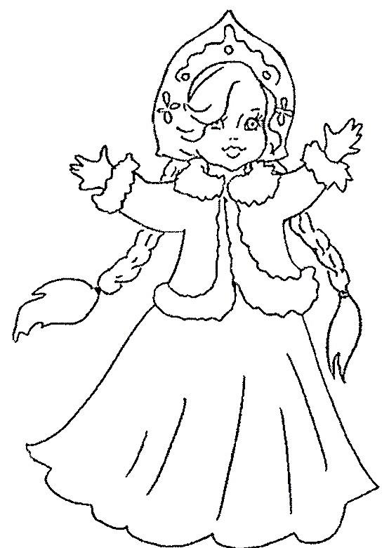 раскраска снегурочка 3