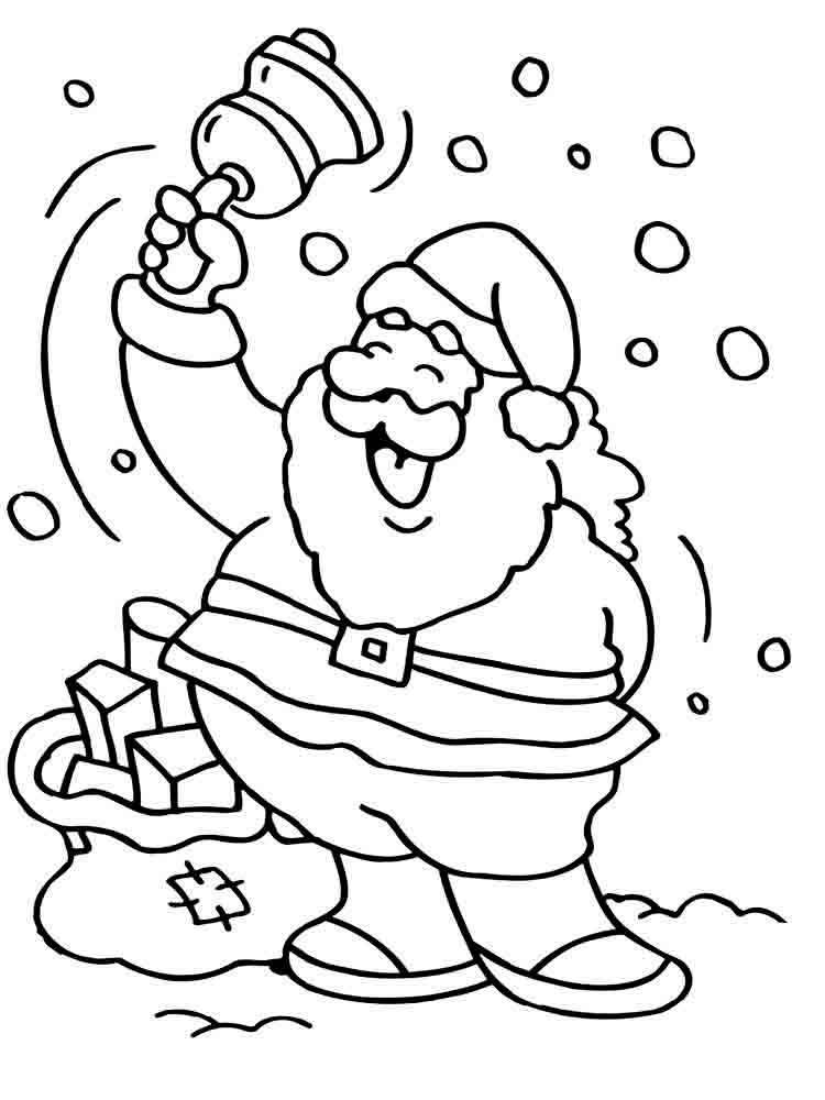 Дед Мороз раскраска 5